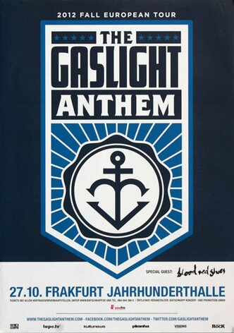 The Gaslight Anthem - Handwritten, Tour 2012 - Konzertplakat