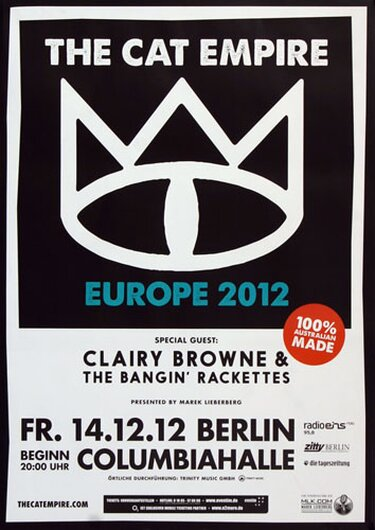 The Cat Empire - Berlin, Berlin 2012 - Konzertplakat