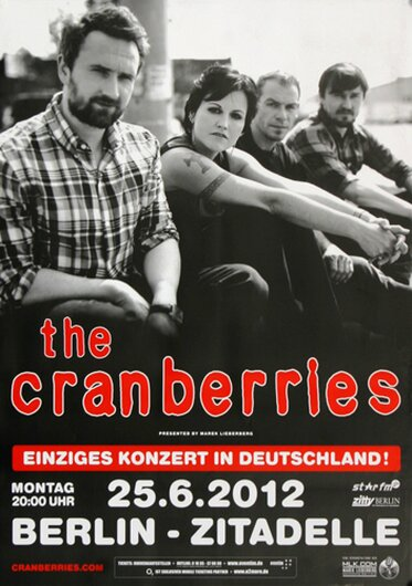 The Cranberries - Live , Berlin 2012 - Konzertplakat