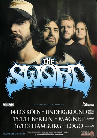 The Sword - Warp Riders, Tour 2013 - Konzertplakat