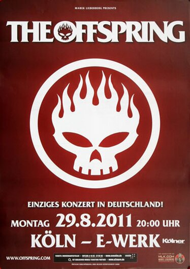 The Offspring - Live At Last, Köln 2011 - Konzertplakat