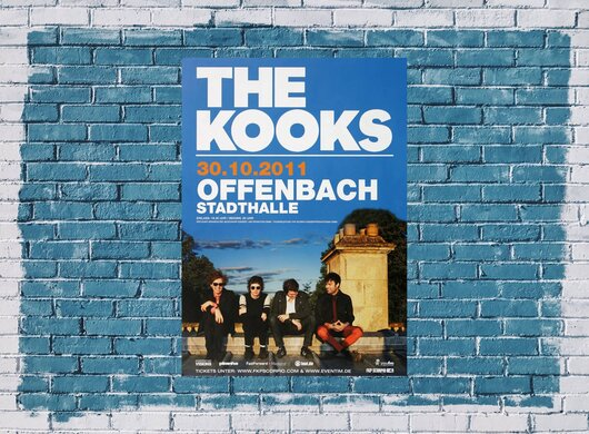 The Kooks - Junk Of The Heart, Frankfurt 2011 - Konzertplakat
