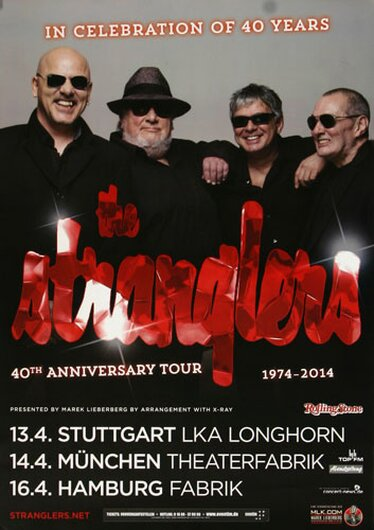 The Stranglers - Freedom Is Insane, Tour 2014 - Konzertplakat