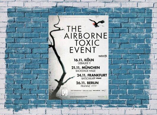 The Airborne Toxic Event - In Concert, Tour 2009 - Konzertplakat