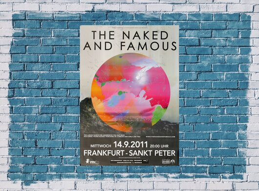 The Naked And The Famous - Passive Me , Frankfurt 2011 - Konzertplakat
