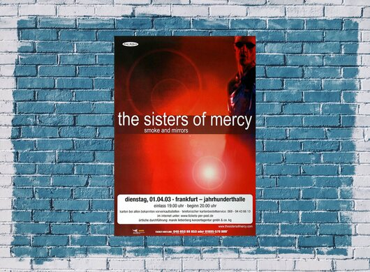 The Sisters of Mercy - Smoke & Mirrors, Frankfurt 2003 - Konzertplakat