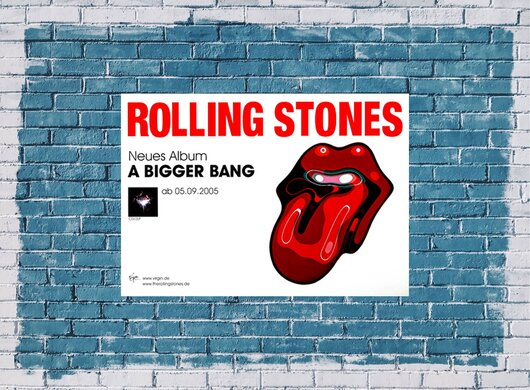 The Rolling Stones - A Bigger Bang,  2005 - Konzertplakat