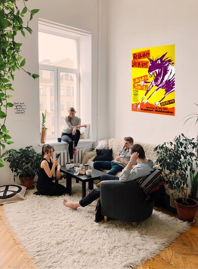 The Rolling Stones - Urban Jungle, Frankfurt 1990 - Konzertplakat