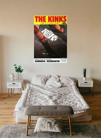 The Kinks - Low Budget, Mannheim 1979 - Konzertplakat