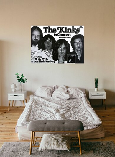 The Kinks - Sleepwalker, Hamburg 1977 - Konzertplakat