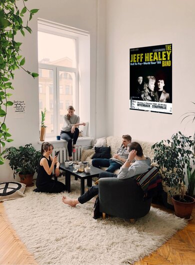 The Jeff Healey Band - Hell To Pay, Frankfurt 1990 - Konzertplakat