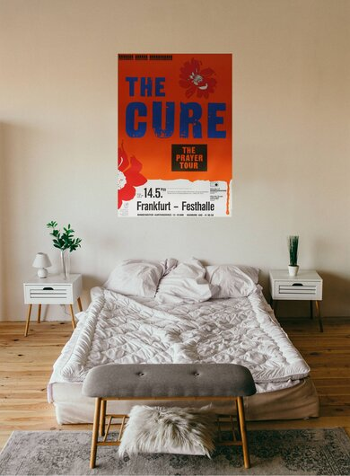 The Cure - The Prayer, Frankfurt 1989 - Konzertplakat