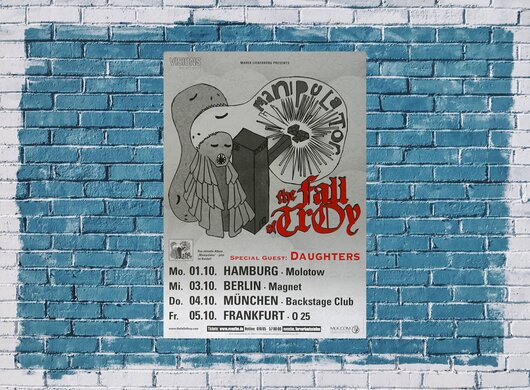 The Fall of Troy - Manipulator, Tour 2007 - Konzertplakat