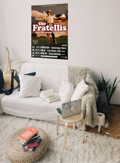 The Fratellis - Here We Stand, Tour 2008 - Konzertplakat