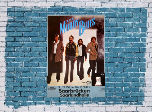 The Moody Blues - Octave, Saarbrücken 1978 - Konzertplakat