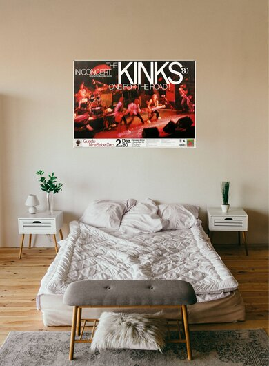 The Kinks - One For The Road, Frankfurt & Hamburg 1980 - Konzertplakat