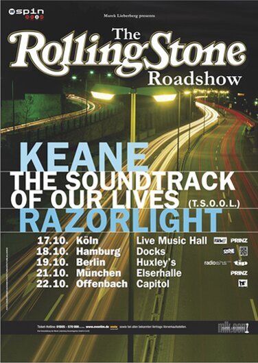 Keane - Tom Chaplin - The Soundtrack, Tour 2004 - Konzertplakat