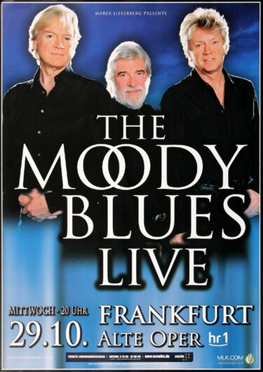 The Moody Blues - Playlist Plus, Frankfurt 2008 - Konzertplakat