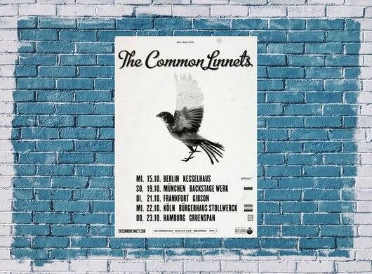 The Common Linnets - After The Storm, Tour 2014 - Konzertplakat