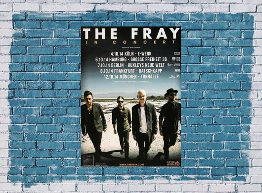 The Fray - Helios, Tour 2014 - Konzertplakat