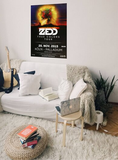 ZEDD - True Colors, Köln 2015 - Konzertplakat