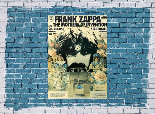 Frank Zappa - Mothers Of Invention, Freiburg 1973 - Konzertplakat