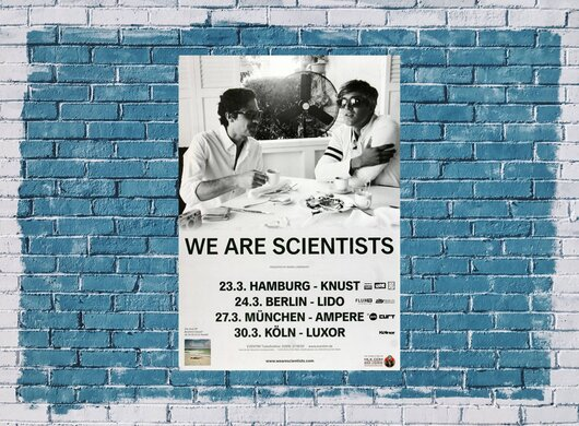 We Are Scientists - En Francais, Tour 2014 - Konzertplakat
