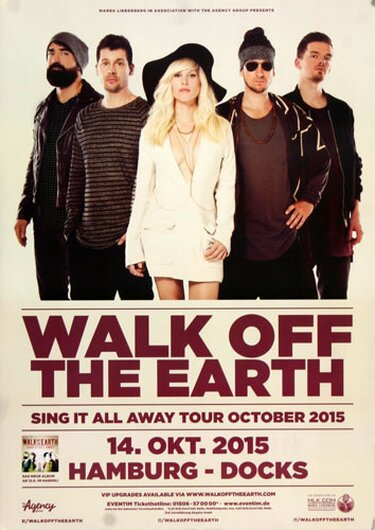 Walk Of The Earth - Sing It All , Hamburg 2015 - Konzertplakat