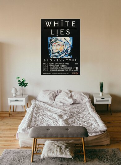 White Lies - Big TV, Tour 2013 - Konzertplakat