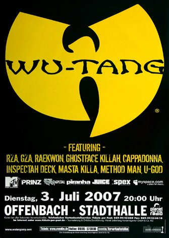 Wu-Tang Clan - Unreleased, Tour 2007 - Konzertplakat