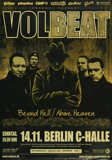 Volbeat - Above Heaven , Berlin 2010 - Konzertplakat
