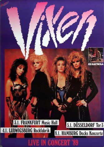 Vixen - Rev It Up, Tour 1989 - Konzertplakat