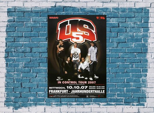 US 5 - Around The World, Frankfurt 2007 - Konzertplakat