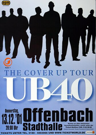 UB 40 - Light My Fire, Frankfurt 2001 - Konzertplakat