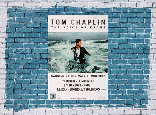 Tom Chaplin - Carried By The Wave, Tour 2017 - Konzertplakat