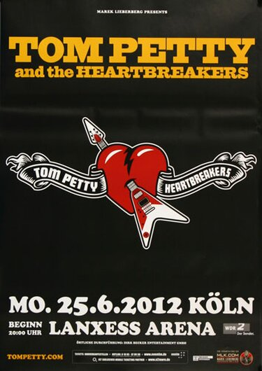 Tom Petty & the Heartbreakers - Heartbreaker , Köln 2012 - Konzertplakat