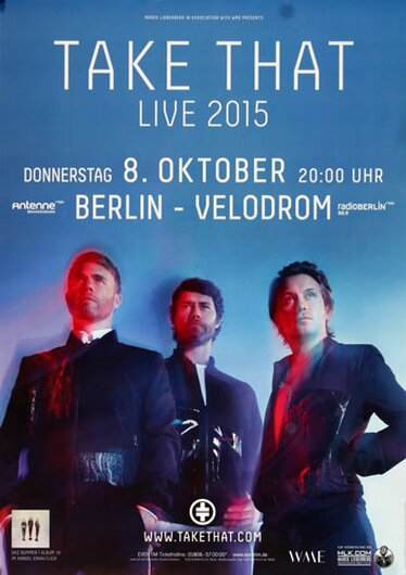 Take That - Live , Berlin 2015 - Konzertplakat