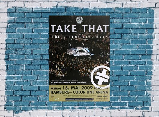Take That - Hamburg, Hamburg 2009 - Konzertplakat