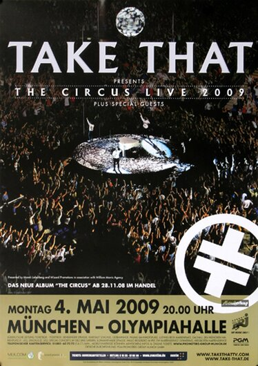Take That - The Circus, München 2009 - Konzertplakat