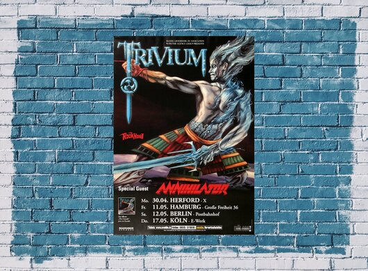 Trivium - The Crusade, Tour 2007 - Konzertplakat