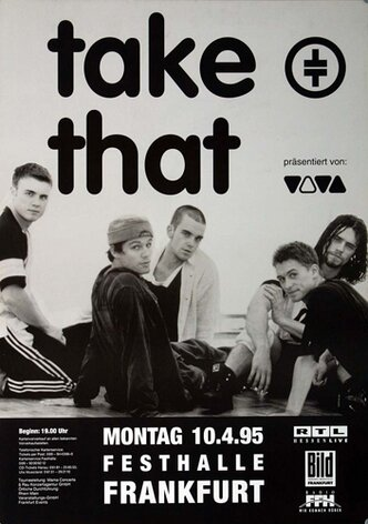 Take That - Nobody Else, Frankfurt 1995 - Konzertplakat