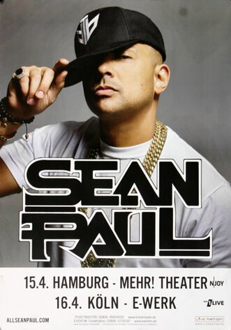 Sean Paul - Dutty Rock, Hamburg & Köln 2017 - Konzertplakat