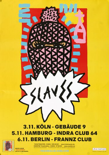 Slaves - Sockets, Tour 2016 - Konzertplakat