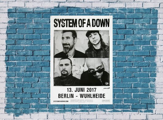 System Of A Down - Toxicity , Berlin 2017 - Konzertplakat