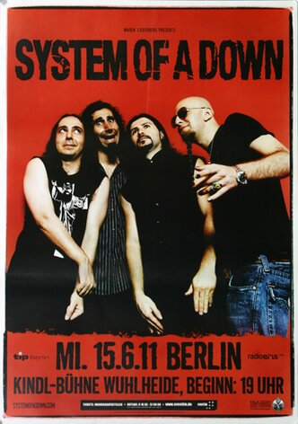 System Of A Down - Dreaming, BER, 2011 - Konzertplakat