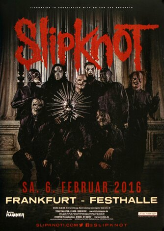 Slipknot - Gray Chapter , Frankfurt 2016 - Konzertplakat