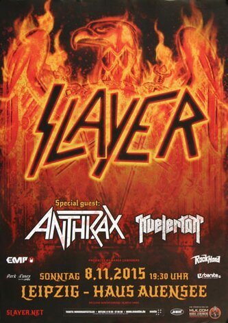 Slayer - Repentless , Leipzig 2015 - Konzertplakat