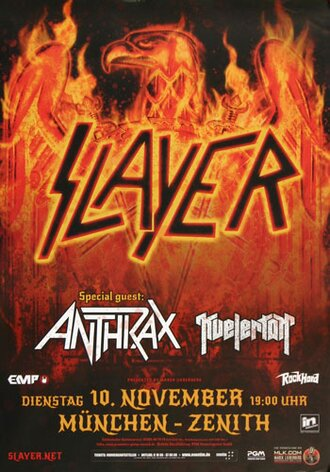 Slayer - Repentless , München 2015 - Konzertplakat