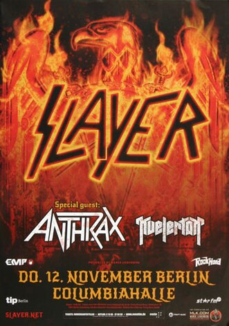 Slayer - Repentless , Berlin 2015 - Konzertplakat