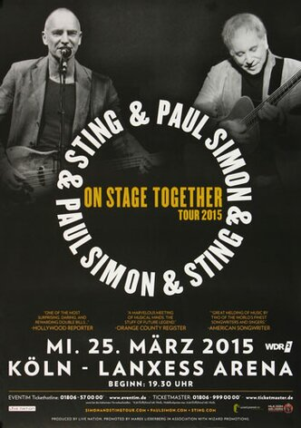 Paul Simon - On Stage , Köln 2015 - Konzertplakat